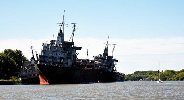 Wracks im Rio de la Plata