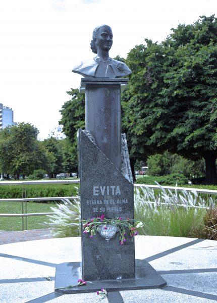 Statue gewidmet für Eva Perón in La Plata