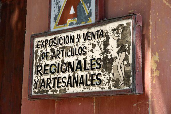 Werbeschild in Chascomús