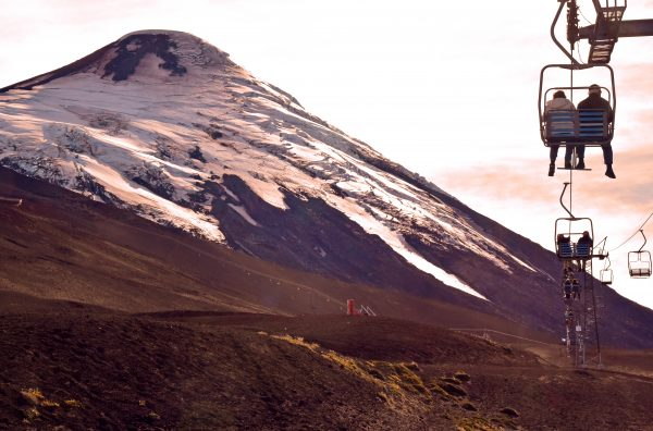 Der Sessellift zum Vulkan Osorno