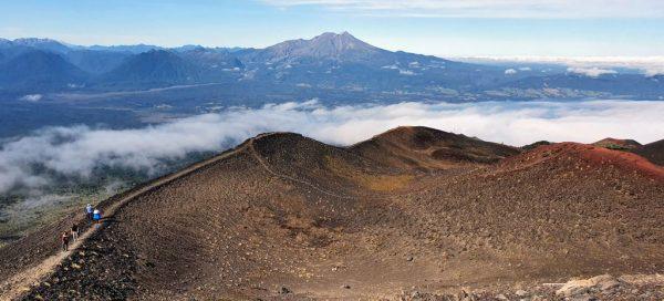 Ausblick vom Vulkan Osorno aus