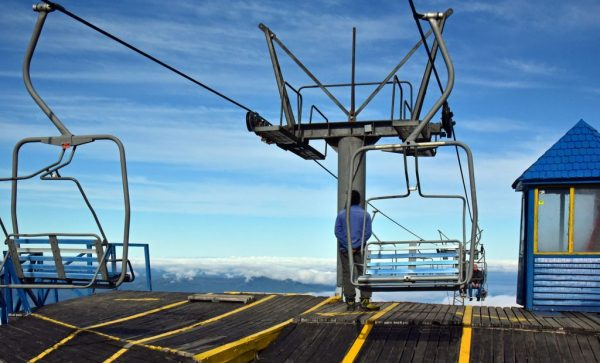 Die Sessellift-Station am Vulkan Osorno