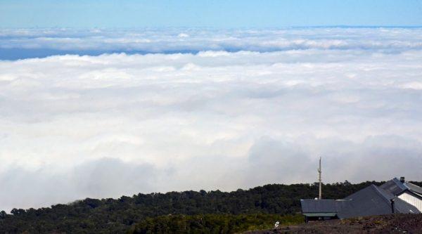 Tiefe Wolken am Vulkan Osorno