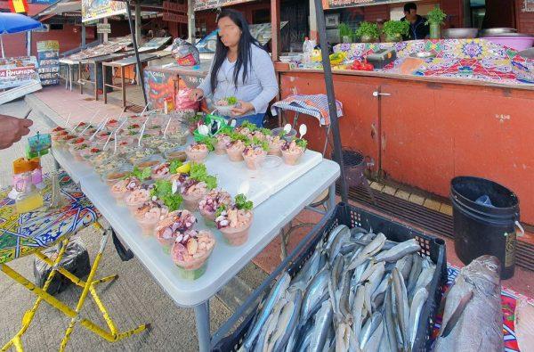 Auf dem Fischmarkt von Angelmó / Puerto Montt