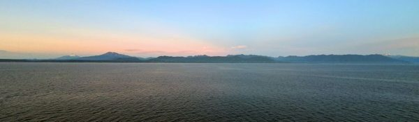 Dämmerung an der chilenischen Küste