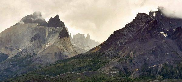Blick auf die 'Las Torres' im Torres del Paine Nationalpark