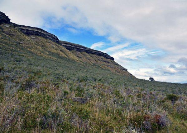 Der Kondor Hügel 'Cerro Palomares'
