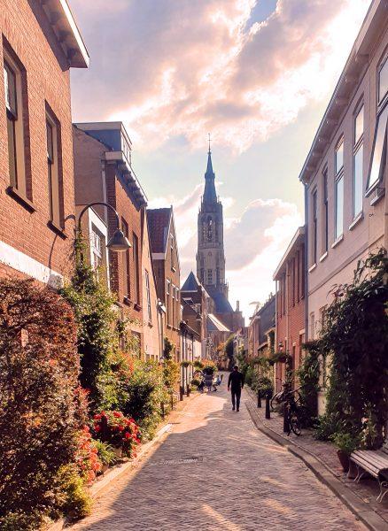 Auf dem Weg zur 'Nieuwe Kerk' in Delft