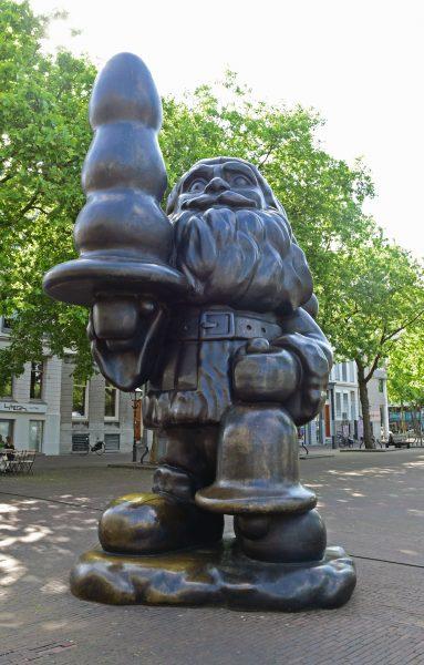 Der obszöne Santa Claus in Rotterdam