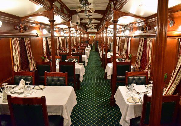 Das Restaurant im Rovos-Zug
