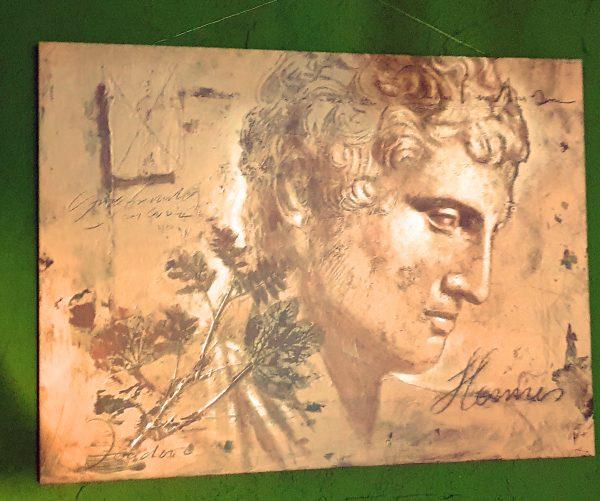 Ein römisches Porträt in einem Weinlokal in Hochheim