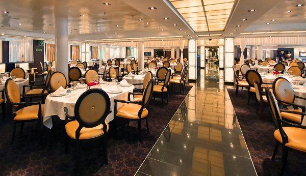 Das Restaurant der MS Seabourn Sojourn