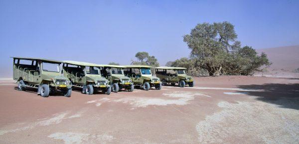 Unser Carpark in Sossusvlei