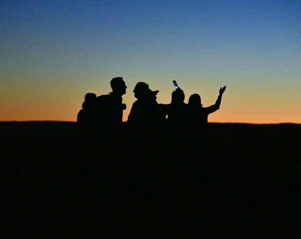 Der 'Fast-Sonnenuntergang' in Sossusvlei