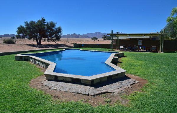 Der Pool der Sossusvlei Lodge