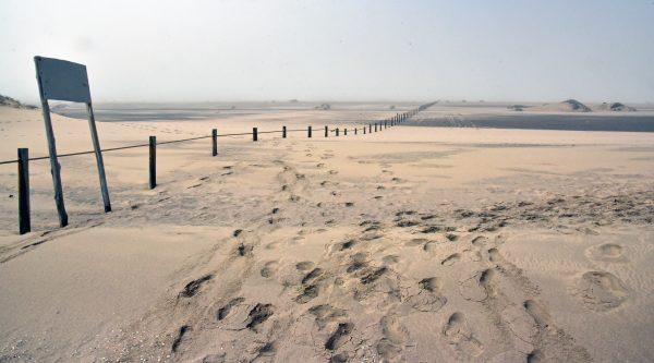 Die ehemalige Grenze zwischen Namibia und Südafrika