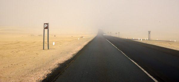 Nebel nahe Swakopmund
