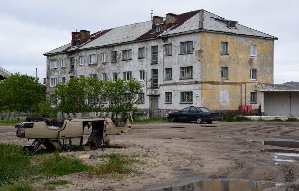 Der Ort Teriberka Bay, Russland