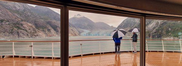 Regen im Tracy-Arm-Fjord