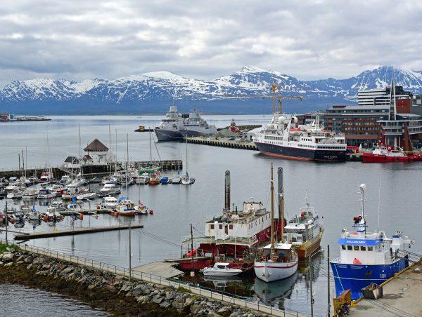 Die Silver Explorer im Hafen von Tromsø