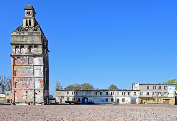 Der ehemalige Werkturm vom Fertigungsgebäude der Gruschwitzwerke