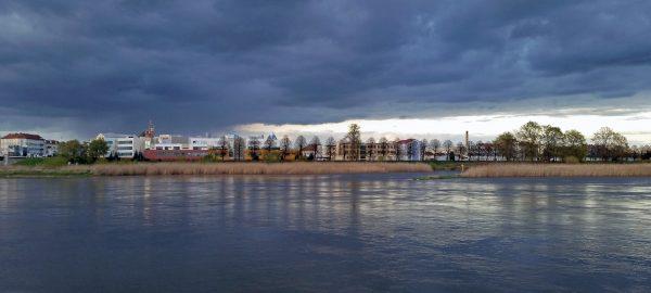 Blick auf die Oder von Frankfurt aus