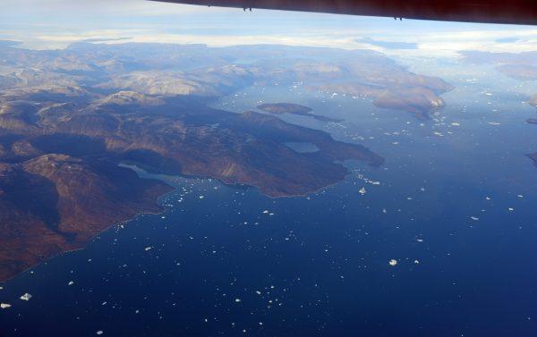 Auf dem Flug von Upernavik nach Ilulissat