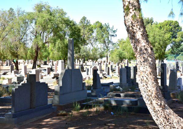 Ein Friedhof in Upington