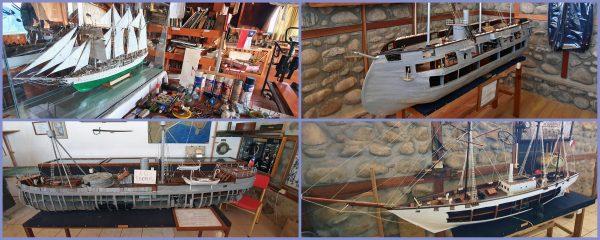 Schiffsmodelle im Julio Munizaga Museum