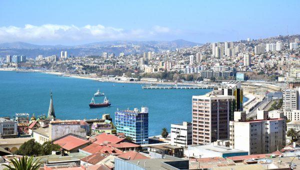 Blick auf das Zentrum von Valparaíso