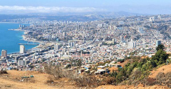 Blick auf Valparaíso