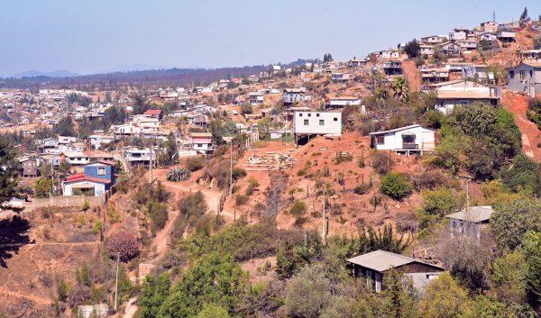 Ein Wohngebiet in den Hügeln von Valparaíso