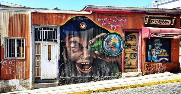 Piraten-Kunst in Valparaíso