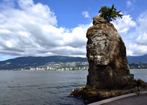 Der Siwash Rock im Stanley Park in Vancouver