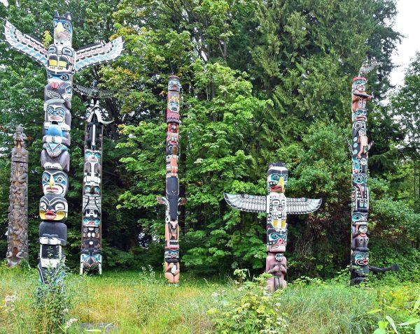 Totempfahle im Stanley Park / Vancouver