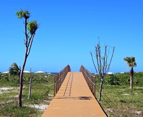 Auf dem Weg zum Strand im Hotel International in Varadero