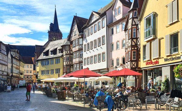 Der historische Marktplatz in Wertheim