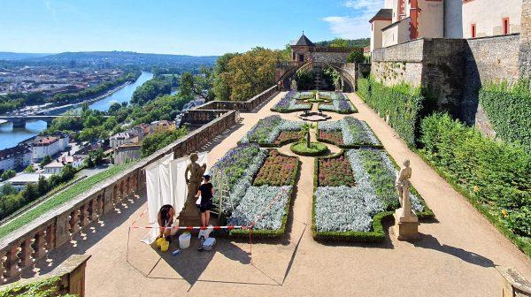 Der Fürstengarten der Festung Marienberg in Würzburg